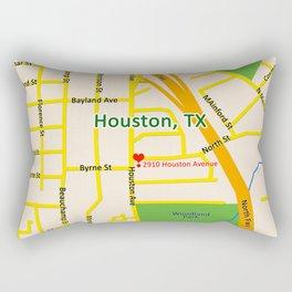 Map of Houston TX #2 Rectangular Pillow