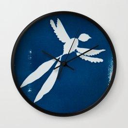 Cyano-scissortail Wall Clock