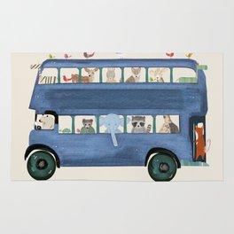 the big blue bus Rug