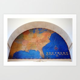 The Southern Serves The South Art Print