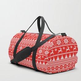 Fair Isle Christmas Duffle Bag