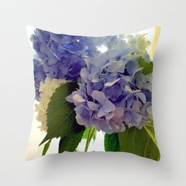 Hydrangea Bouquet Throw Pillow
