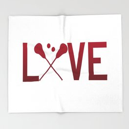 Love Lacrosse Throw Blanket