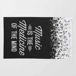 Music Medicine Mind Quote Rug