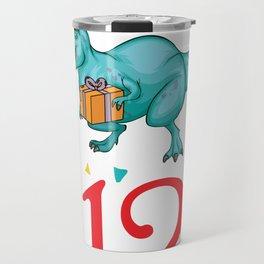 12th Birthday For Boys Dinosaur Birthday Travel Mug