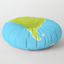 South America map blue ocean and green continent. Vector illustration Floor Pillow