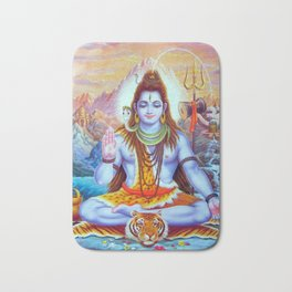 Lord Shiva Hindu Religion God Orient Spiritual Yoga Meditation Bath Mat