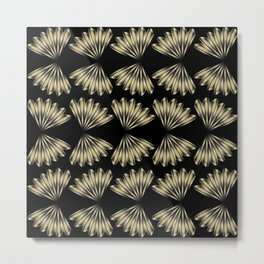 fan vintage pattern Metal Print