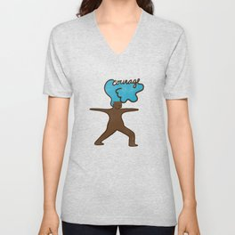 Courage Hair Woman Unisex V-Neck