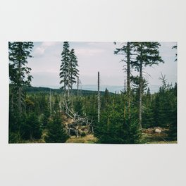 Evergreen Mountain Forest Rug