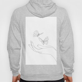 Butterflies on the Palm of the Hand Hoodie