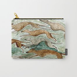 Running Greyhounds Carry-All Pouch