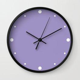Flowering Violet (Purple) Color Wall Clock