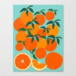 Orange Harvest - Blue Canvas Print