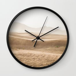 Windy desert Wall Clock