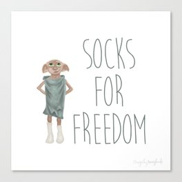 Socks for Freedom Canvas Print