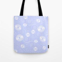 White Spirals Tote Bag
