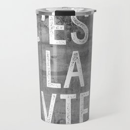 Cest La Vie French Quote That's Life Grey Grunge Travel Mug