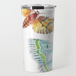 Nature Illustration of Moths Travel Mug