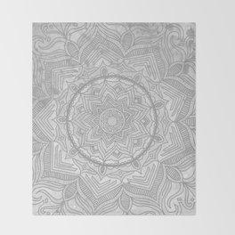 gray splash mandala swirl boho Throw Blanket