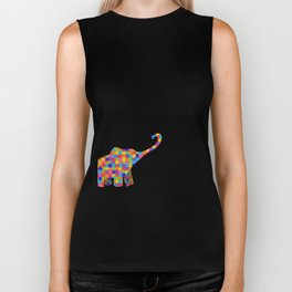 Elephant Autism Awareness Support Biker Tank