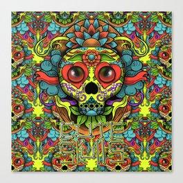 Cute Skull Dia de Los Muertos Canvas Print