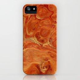 Burnt Orange Fire Lava Flow iPhone Case