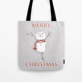 Snowman yoga - the tree Tote Bag