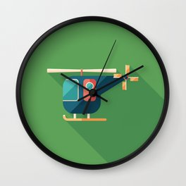 Civilian Helicopter Wall Clock