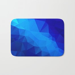 Abstract digital art polygon triangles Bath Mat