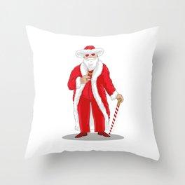 Big Pimpin' Santa Throw Pillow