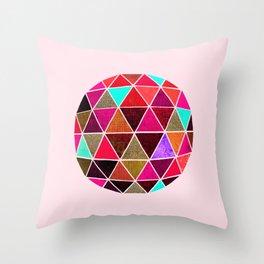 Geodesic 4 Throw Pillow