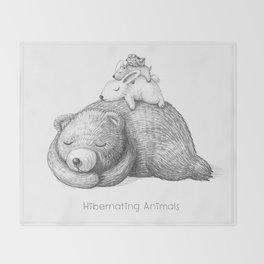 Hibernating Animals Throw Blanket