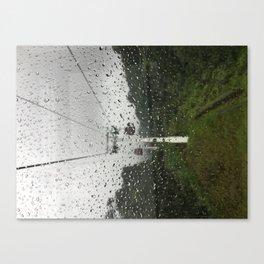 Raindrops on window Canvas Print