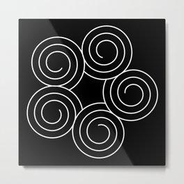 Invert spirals Metal Print