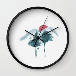 Japanese Alpine Sunset Wall Clock