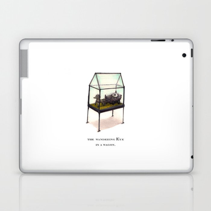 the wandering Eye in a wagon Laptop & iPad Skin