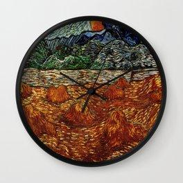 Van Gogh, night at the rising of the moon – Van Gogh,Vincent Van Gogh,impressionist,post-impressioni Wall Clock