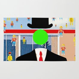 Magritte illustration Rug