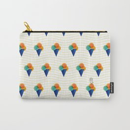 044 Ice cream pattern on the beach Carry-All Pouch
