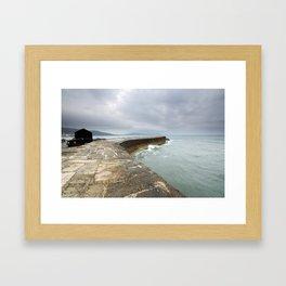 The Cobb at Lyme Regis Framed Art Print