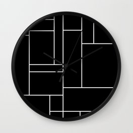Geometric Abstract - Rectangulars (White) Wall Clock