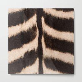 Zebra - zebra stripes -zebra skin - genuine - beautiful - #society6 #buyart Metal Print