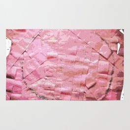 Smile on a pink toilet paper 2 Rug