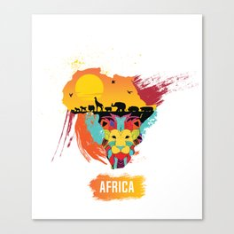 AFRICA LION KING OF THE JUNGLE Canvas Print