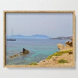 Mykonos Ocean View Serving Tray
