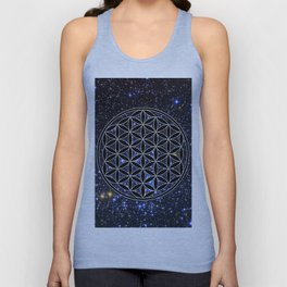 Flower of life in the space Unisex Tank Top