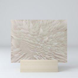 Just white Mini Art Print