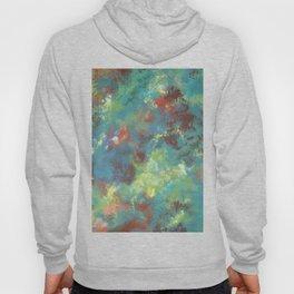 Abstract Pattern in Bluegreen Hoody