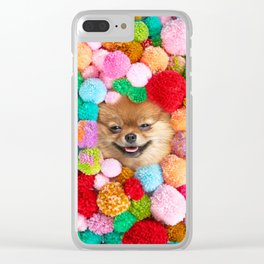 Pomeranian in the Poms Clear iPhone Case